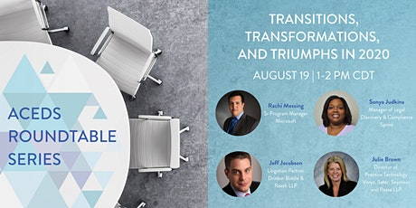ACEDS Roundtable Series: Transitions, Transformations, and Triumphs in 2020 tickets