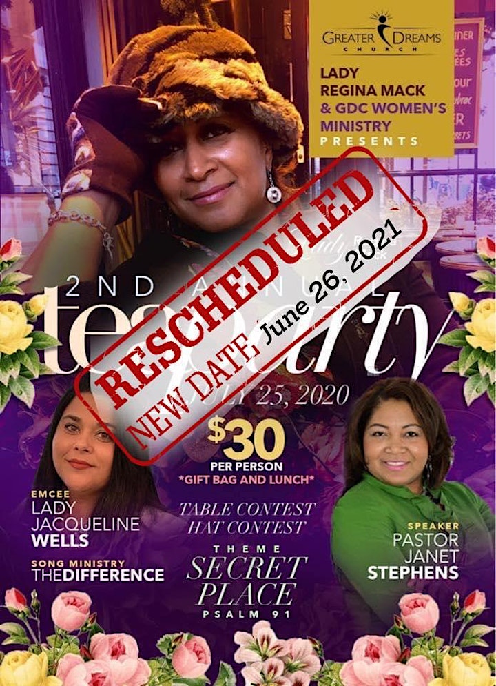 Greater Dreams Church - Women's Ministry  Global Tea Party -2021 image
