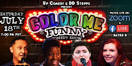 Color Me Funny VIRTUAL Comedy Show July 18th 7:00 pm tickets