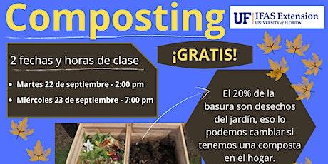 Composting - zoom  en línea en español -  selecciona tu fecha y hora boletos