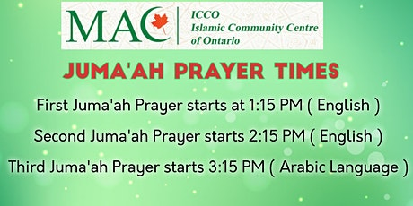 ICCO Juma' Prayer Registration - July 17th , 2020 tickets
