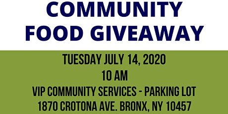 Bronx Community Food Giveaway tickets