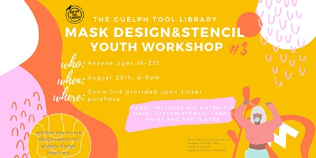 Mask Design and Stenciling Youth Workshop tickets