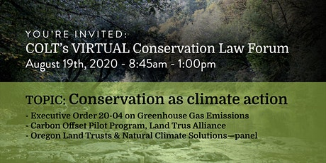 August 19th Conservation Law Forum tickets