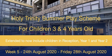Summer Play Scheme 2020  - Week 5 (Mon 24th August - Fri 28th August) tickets