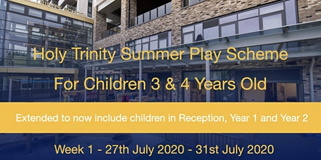 Summer Play Scheme 2020  - Week 1 (Mon 27th July - Fri 31st July) tickets