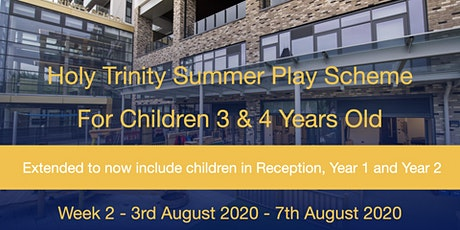 Summer Play Scheme 2020 - Week 2 (Mon 3rd August - Friday 7th August) tickets