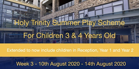 Summer Play Scheme 2020  - Week 3 (Mon 10th August - Fri 14th August) tickets