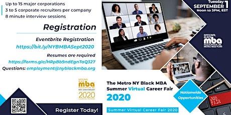 Metro NY Black MBA  Summer Virtual Career Fair 2020 tickets