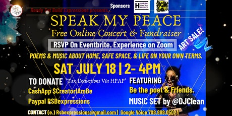 SPEAK MY PEACE: Online Concert & Fundraiser tickets