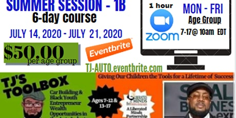 TJ's TOOLBOX: Cars and Auto Industry SUMMER SESSION 1B tickets
