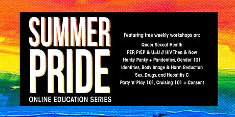 Pride in Harm Reduction: An Online Rainbow Community Leadership Series tickets