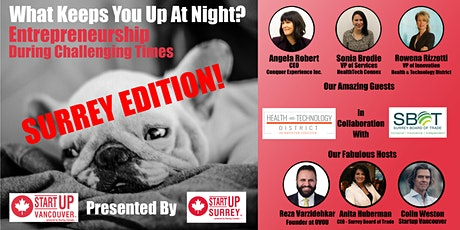 """The """"What Keeps You Up At Night?"""" show - SURREY Edition!  Episode 018 tickets"""