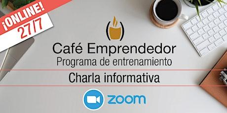 Café Emprendedor. Charla informativa entradas