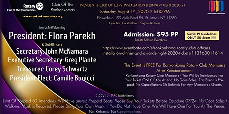 Ronkonkoma Rotary Club Officers Installation Dinner and Awards Night 2020 tickets