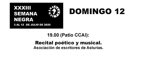 Recital poético y musical. entradas