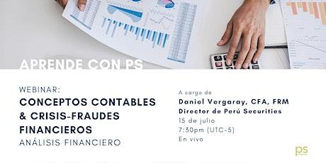 WEBINAR: Conceptos contables & Crisis-fraudes financieros entradas