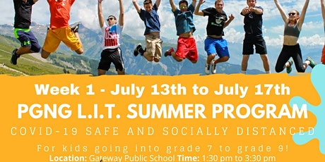 PGNG L.I.T. In-Person Summer Program! Week 1! tickets