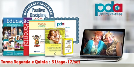 ONLINE - Certificação parental em Disciplina Positiva (`SEG/QUI) bilhetes