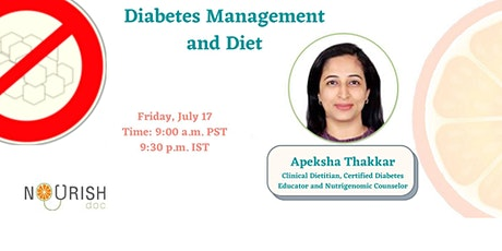 Diabetic Diet Plan by Dr.Apeksha Thakkar  (Dietician) tickets