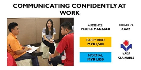 Communicating Confidently At Work (HRDF Claimable) tickets