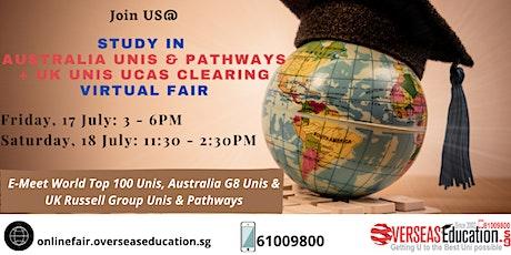 Study in Australia & UK Virtual Fair tickets