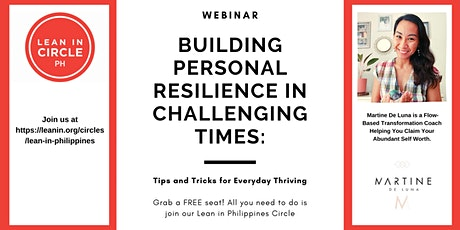 Building Personal Resilience in Challenging Times tickets