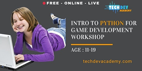 Free-Live Intro to Python for Game Development Workshop for Kids tickets