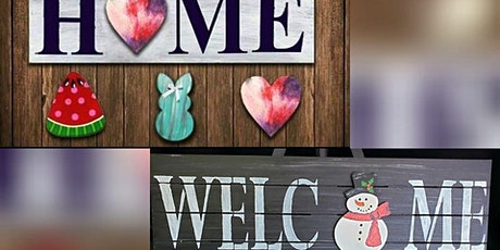 DIY HOME or WELCOME Wood Pallet Signs tickets