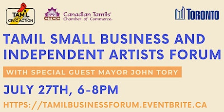 Tamil Small Business and Independent Artists Forum tickets