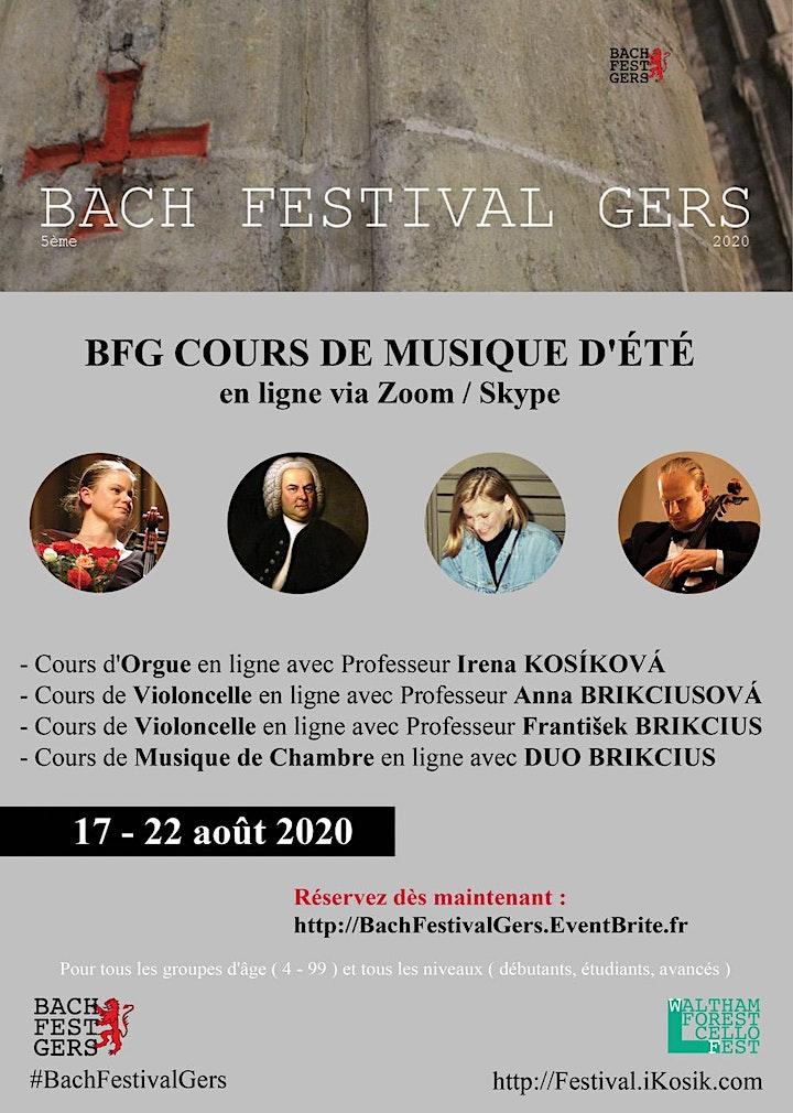 5ème BACH FESTIVAL GERS - Cours de musique d'été en ligne via Zoom image