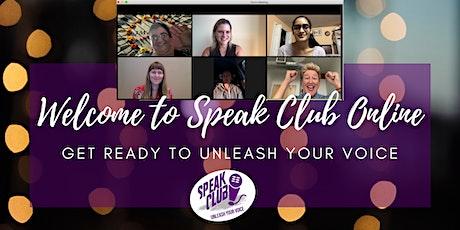 Speak Club Online: A Public Speaking Boot Camp for Women tickets