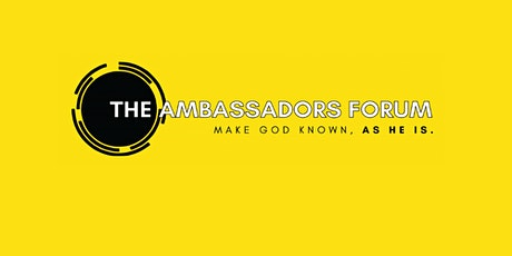 Register to be an Ambassadors Forum Zoom host tickets