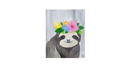 Sloth| Adult Paint 'n Sip|  $25-$30 tickets