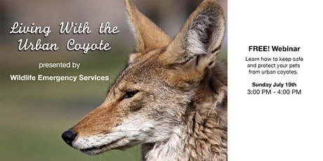 Living With Urban Coyotes: how to keep safe and protect pets  tickets