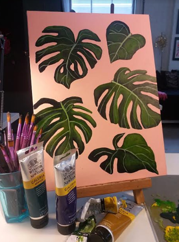 Tropical Botanical Painting Workshop - no drawing skills needed image