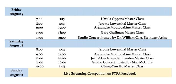 Masterclass/Lecture/Studio Concert: Graffman, Hu, Westhuizen/ Pass B image