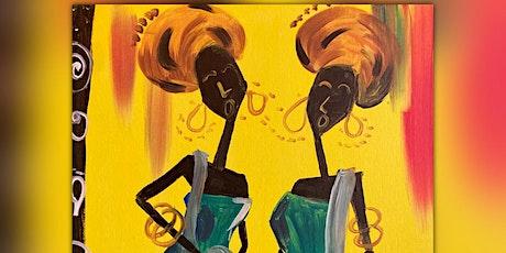 Gossip Queens African Pride Paint and Sip tickets