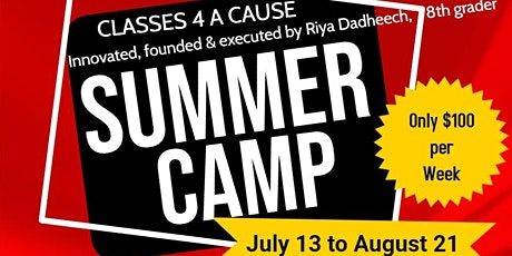 Classes 4 A Cause: Virtual Summer Camp - Supporting Our Community Impacted by COVID-19 tickets