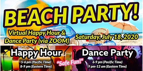 FREE Virtual Zoom Beach Dance Party! Don't miss out on a great night! tickets