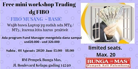 FREE Mini workshop Trading dg  FIBONACCI memakai FIBO MUSANG tickets