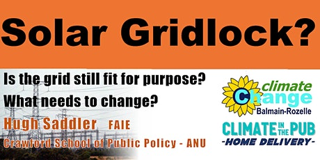 Climate in the Pub: Home Delivery - Solar Gridlock ? tickets