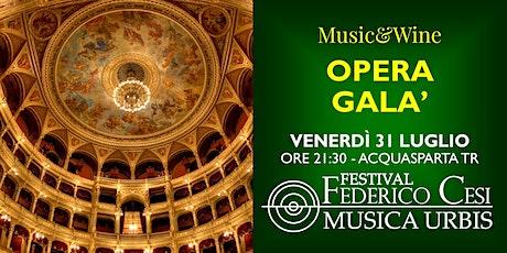 Music & Wine - Opera Galà biglietti