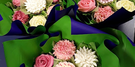 Cake Decorating : cup cake Bouquet tickets