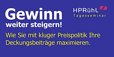 Gewinnsteigerung:  Mit kluger Preispolitik Deckungsbeiträge maximieren! Tickets
