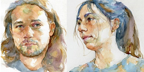 Oct. 27 , 28  - Quick Sketch Watercolor Portraits - 2 Day Online Workshop tickets