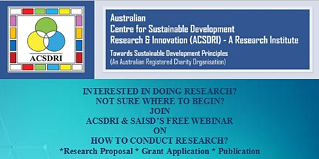 ACSDRI's FREE WORKSHOP:  INTERESTED IN DOING RESEARCH? tickets