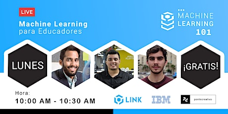 Machine Learning para Educadores Livestream tickets