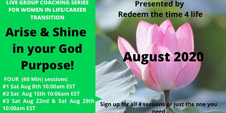 Arise & Shine in your God purpose (August 2020) tickets
