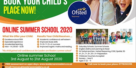 ONLINE SUMMER SCHOOL 2020 tickets